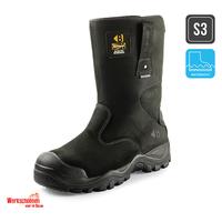 Zwarte werklaarzen Buckler Boots BSH010BK
